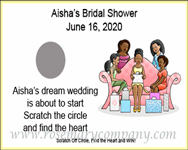 Personalized African American Bridal Shower Scratch & Win Game (Rosemary Exclusive!)
