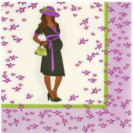 African-American Baby Shower Luncheon Napkins