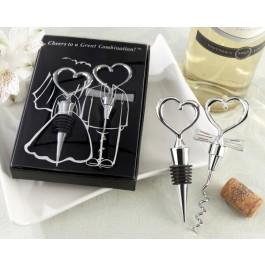Cheers to a Great Combination Bottle Stopper and Corkscrew Set