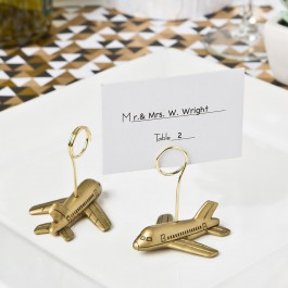 AIRPLANE DESIGN PLACECARD OR PHOTO HOLDERS