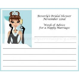 Breakfast at Tiffany's Personalized  Advice Card (Caucasian or African American)