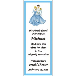 Personalized Cinderella  Laminated Bookmark Favor