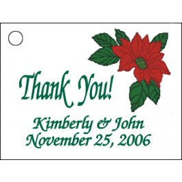 Poinsettia Favor Card