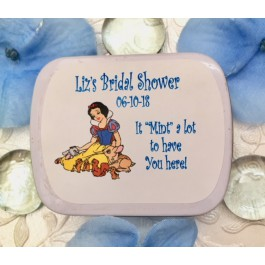 Personalized Snow White Mint Tins (Set of 12)