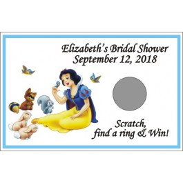 Personalized Snow White Scratch Off Game (Set of 12)