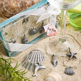 Unique Beach Themed Wine Charms