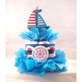 Nautical Diaper Cake Centerpiece for Boy or Girl