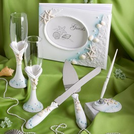 BEACH THEMED WEDDING DAY ACCESSORIES