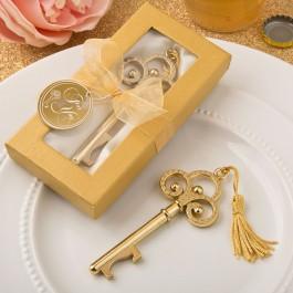 Gold Vintage Skeleton Key Bottle Opener