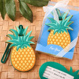 PINEAPPLE THEMED LUGGAGE TAG