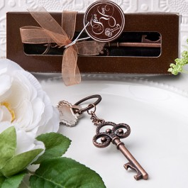 Vintage Skeleton Key Themed Key Chain