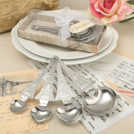 From Paris With Love Set Of Four Heart Shaped Measuring Spoons