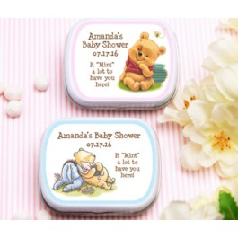 Personalized Winnie The Pooh Mint Tins (Set of 12)(MINTS NOT INCLUDED)