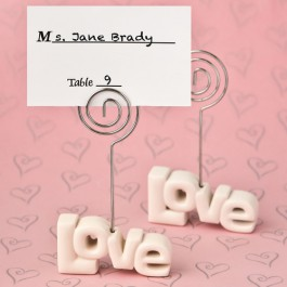 LOVE THEME PLACECARD HOLDER