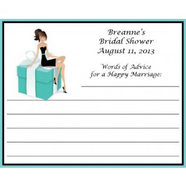 Bride to Be On A Tiffany Box design personalized  Advice Card (Caucasian or AA)