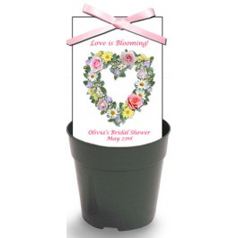 Personalized Bridal Shower Wildflower Seeds & Flowerpot Set