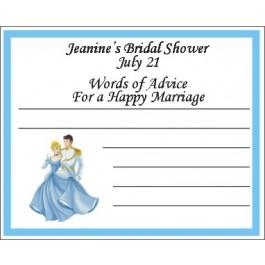 Personalized Cinderella Advice Card