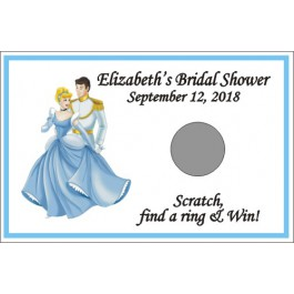 Personalized Cinderella Scratch Off Game (Set of 12)