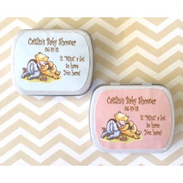 Personalized Winnie The Pooh Mint Tins (Set of 12) (2 Designs)