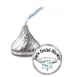 Diamond Ring Personalized  Hershey Kisses Labels (Sheet of 105)