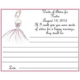 Glam Girl Bridal Shower Personalized Advice Card