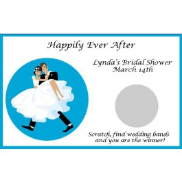 Personalized Happily Ever After Scratch Off Game (5 Colors) (Set of 12)