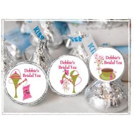 Personalized Bridal Tea Party Hershey Kisses Labels - Bridal Shower Favor - sheet of 105