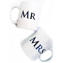 Mr and Mrs Ceramic Coffee Mug Set