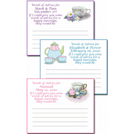Personalized Bridal Shower Tea Party Advice Cards