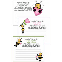 Buzz Personalized Bridal Shower Advice Cards