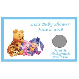 Personalized  Winnie the Baby Pooh and Friends  Scratch Off Games (3 Colors)