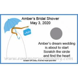 Personalized African American Bridal Shower Scratch & Win Game (Umbrella Design)