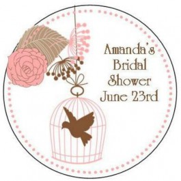 Vintage Design Personalized Round Labels