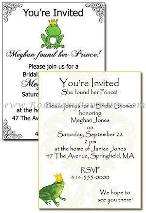 Frog Prince Bridal Shower Invitations Pkg Of 10