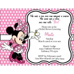 Personalized She Said Yes Minnie Bridal Shower Invitation