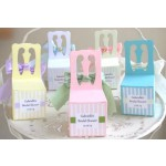 Personalized Tea Ribbon Chair Favor Boxes - 8 Colors
