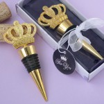 GOLD METAL CROWN DESIGN BOTTLE STOPPER