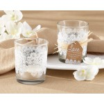 Lace Frosted Glass Tealight Holder (set of 4)