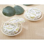 BOTANICAL WRAPPED SOAP WITH CERAMIC TRINKET DISH