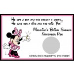 She Said Yes Minnie Bridal Shower Scratch Off Game (Set of 12)