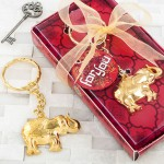 GOLD METAL ELEPHANT KEY CHAIN