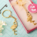 FLAMINGO DESIGN / TROPICAL KEY CHAIN