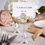 SHIMMERING STARFISH DESIGN PLACE CARD HOLDER