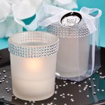 BLING BLING COLLECTION WHITE CANDLE HOLDERS