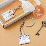 SILVER FAIRYTALE CASTLE KEY CHAIN