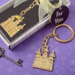GOLD FAIRYTALE CASTLE KEY CHAIN