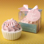 ADORABLE PINK OR BLUE CUPCAKE BATH FIZZER