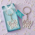 BEAUTIFUL SILVER BUTTERFLY DESIGN METAL KEY CHAIN