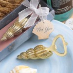GOLD CONCH SEA SHELL DESIGN BOTTLE OPENER