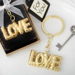 GOLD LOVE THEMED KEY CHAIN